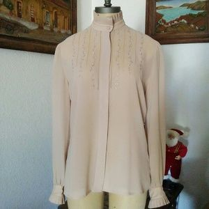 Vintage Victorian Style Hand Embroidered Shirt